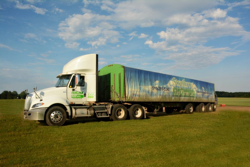 sod delivery, windsor sod, windsor sod delivery, fairlawn sod, fairlawn delivery truck